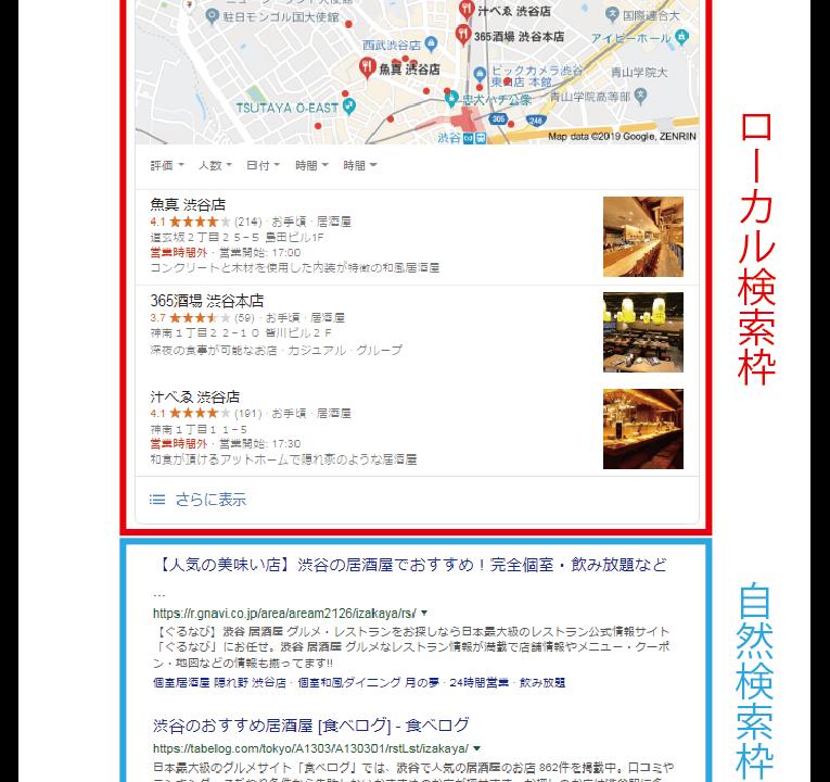 ローカル検索画面
